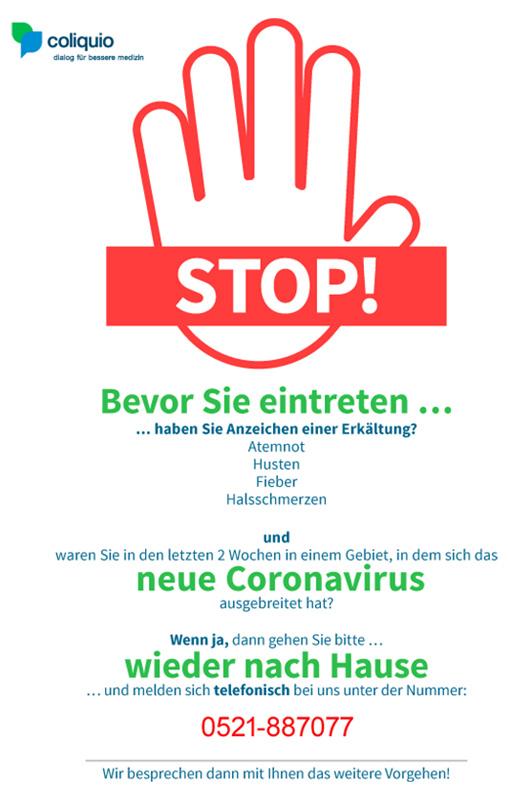 Coronavirus - Popup